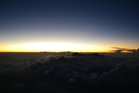 Ever wondered what 4:30 a.m. looks like at 13,000 ft?