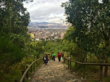 About halfway up the hike to Monserrate.