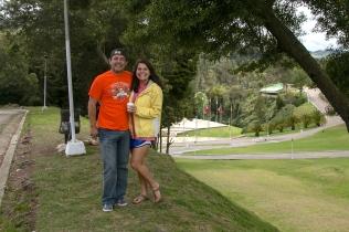 Dad and I at Puente de Boyacá.