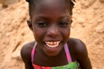 One of the village girls showing off her beautiful smile for the camer.